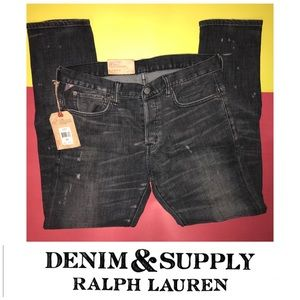 DENIM AND SUPPLY RALPH LAUREN DROPPED SKINNY JEANS